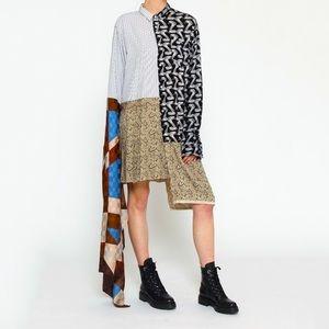 Asymmetrical Shirt Dress Patchwork Reworked